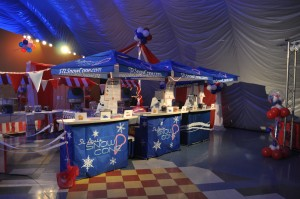 St. Louis Snow Cone uses the Best Of Times Bar, with custom wraps and umbrellas, to bring the Snow Cones to your event!